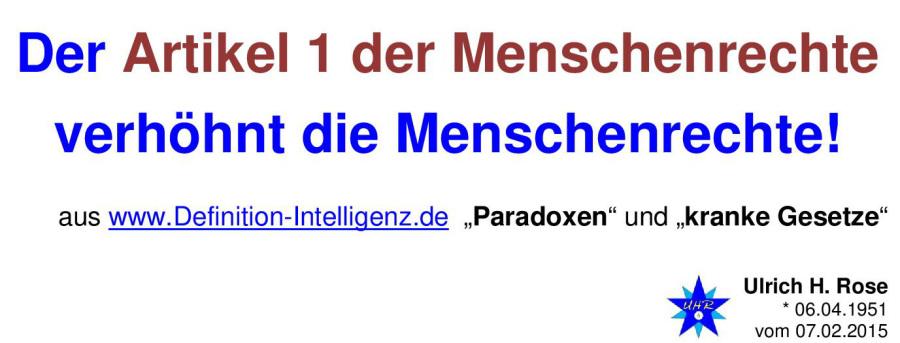 Der Artikel definition intelligenz ulrich h paradox paradoxa