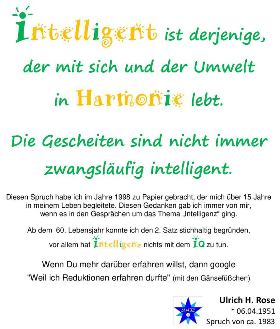 Definition Intelligenz Von Ulrich H Rose Spruche Im Jpg Format